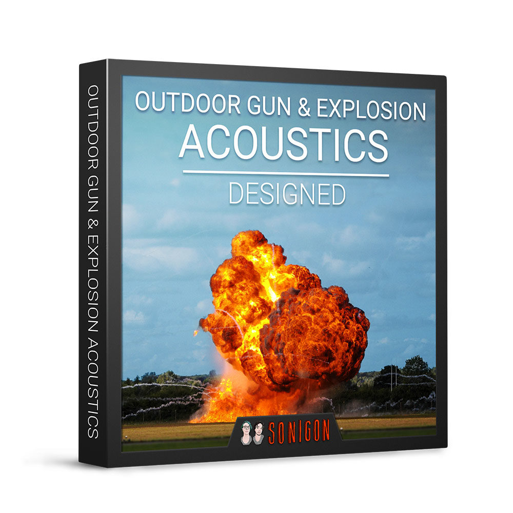 Outdoor Gun & Explosion Acoustics Designed 1k